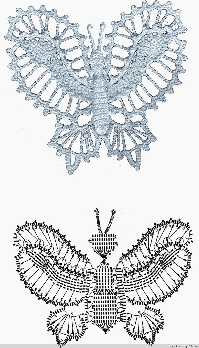 Pin Von Erika Roelli Auf Häkelmotive Pinterest Schmetterlinge