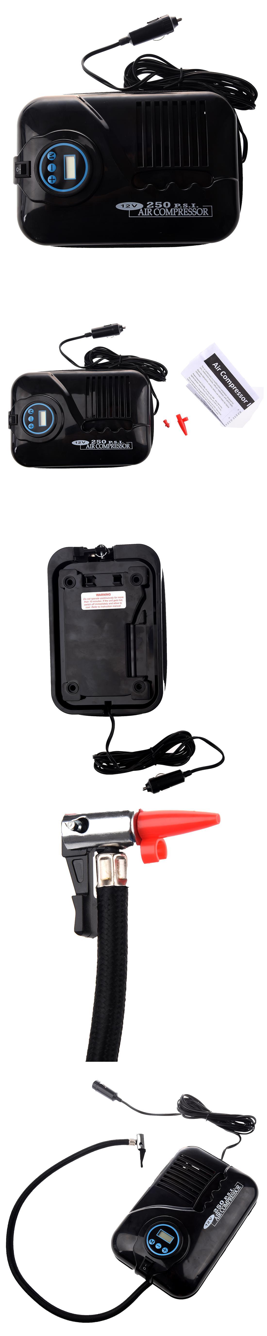 Portable 12V 250PSI Car Tire Inflator Pump Auto Car Pump