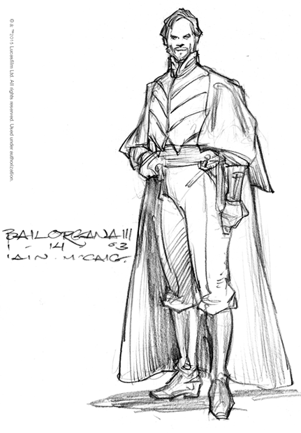 Concept art of Bail Organa from \