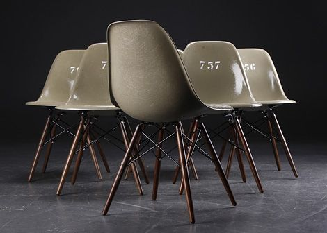 Eames army green shell chair via Eames army green shell chairs