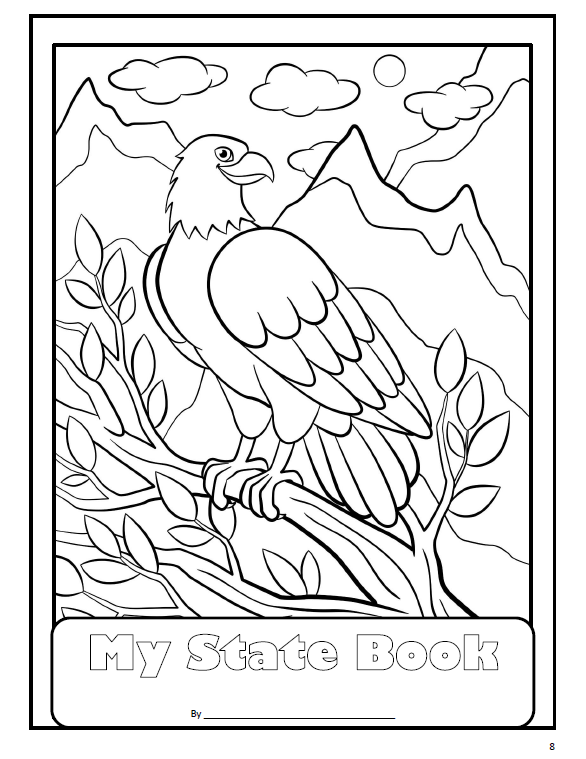 Enjoy this bald eagle coloring page. It is from my USA:The