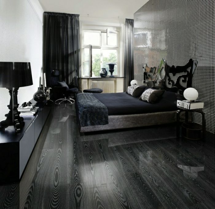 2 savon noir parquet parquet chene massif dans la chambre. Black Bedroom Furniture Sets. Home Design Ideas