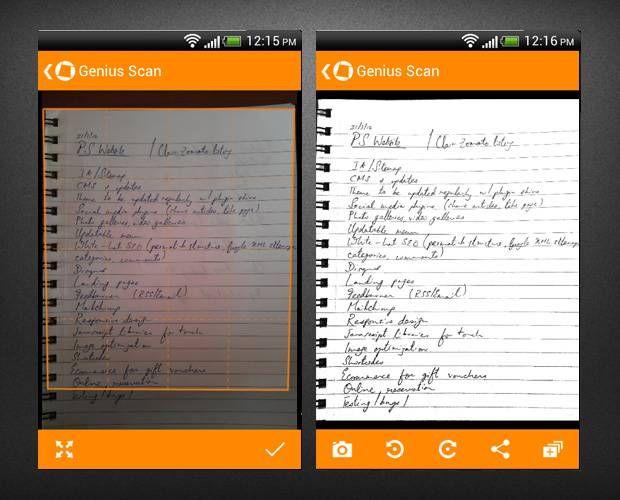 Genius scan iphone app for scanning Office supplies list