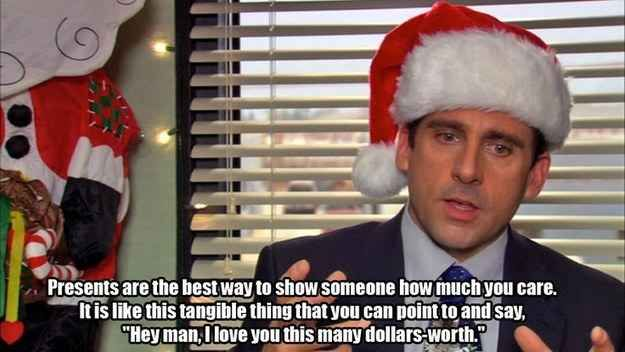 He Knew How To Show His Love For Other People Michael Scott Quotes Christmas Quotes Funny Office Quotes