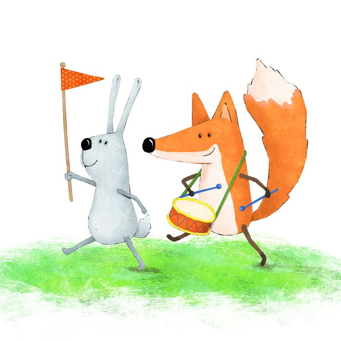 Прикольные картинки с лисой и зайцем, открытку