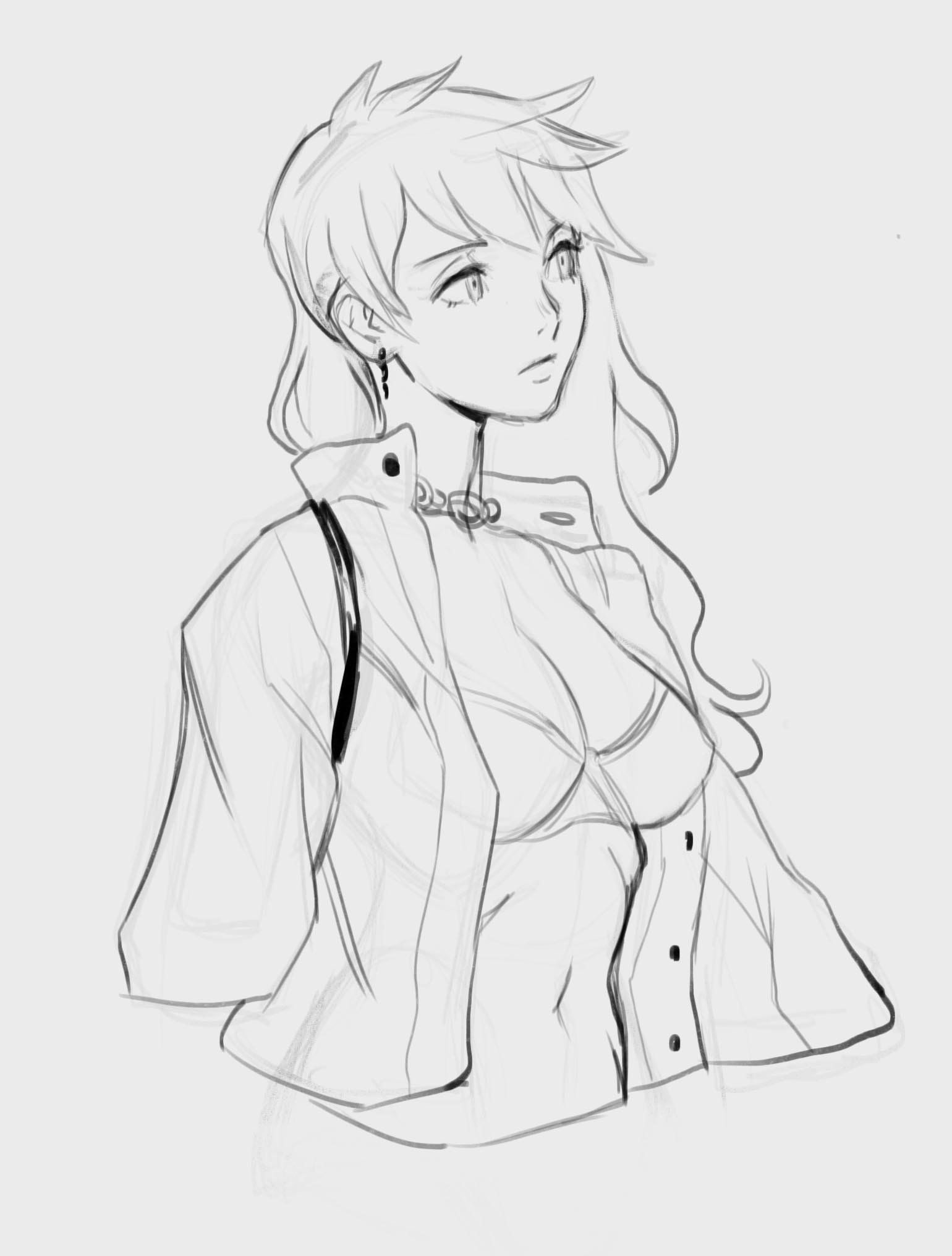 (2) Твиттер Anime drawings sketches, Female drawing base