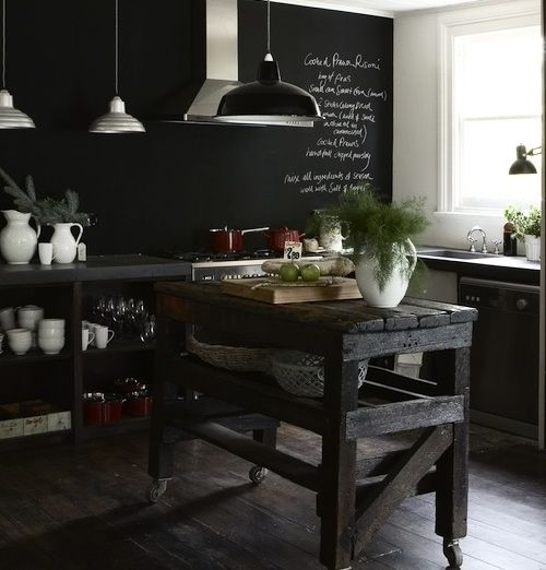 "Embracing Darkness The Beauty Of The Black Kitchen: Le Style Très ""shabby Chic"" De Lynda Gardener"