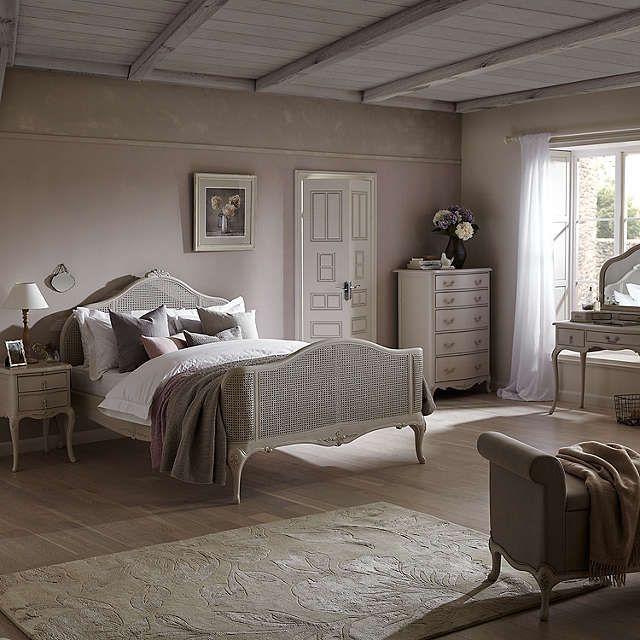 John Lewis Rose Mist Rattan Bed Frame Super King Size Online At Johnlewis