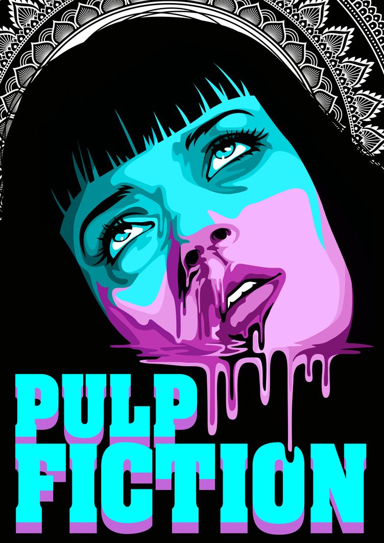Pulp Fiction By Dana Ulama Pulp Fiction Art Pulp Fiction Film Art