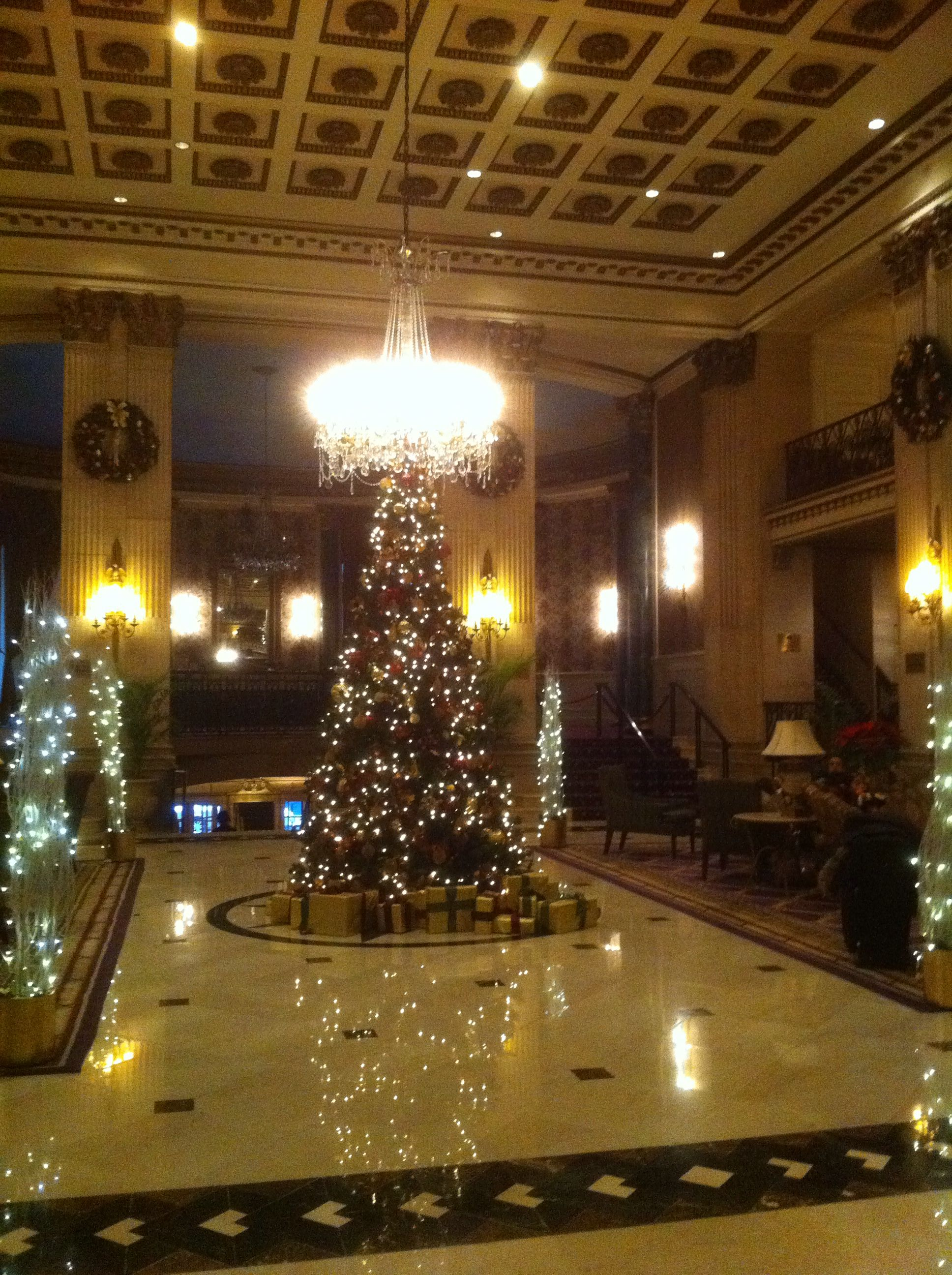 Christmas At The Roosevelt Hotel In New York City