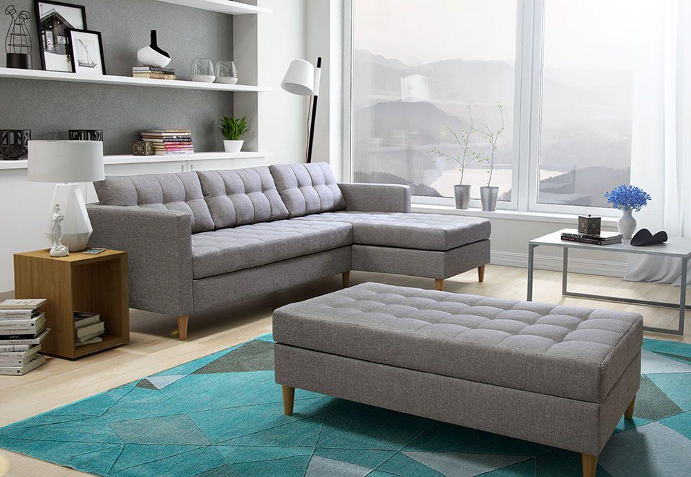 BRAND NEW CORNER SOFA BED WITH Footstool QUEST Corner