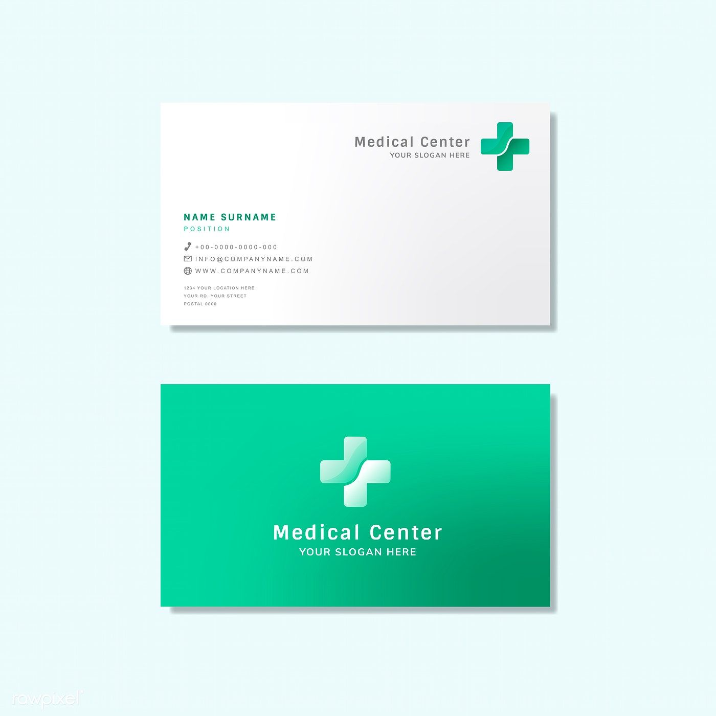 Medical Professional Business Card Design Mockup Free Image By