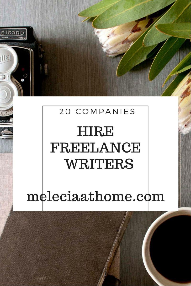 Freelance writing companies online