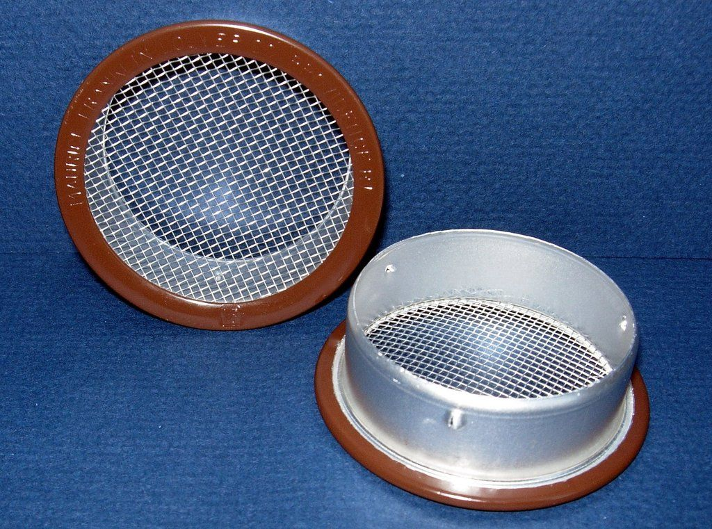 "2"" Round Open Screen Vent, brown Hole saw, Home repair"