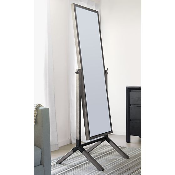 Malvern Grey Cheval Floor Mirror Bedrooms Cheval