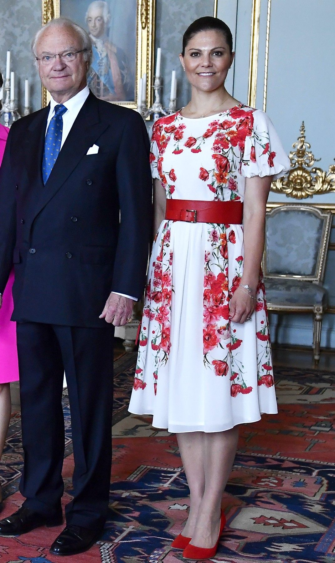 King Carl Gustaf, Queen Silvia, Crown Princess Victoria ...