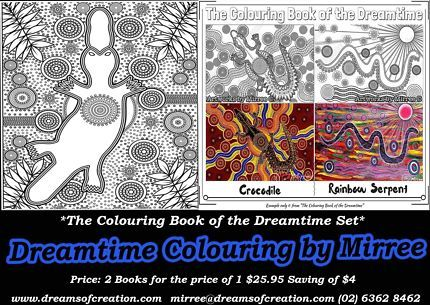 Dreamtime Colouring Book With Australian Animals 30 Templates