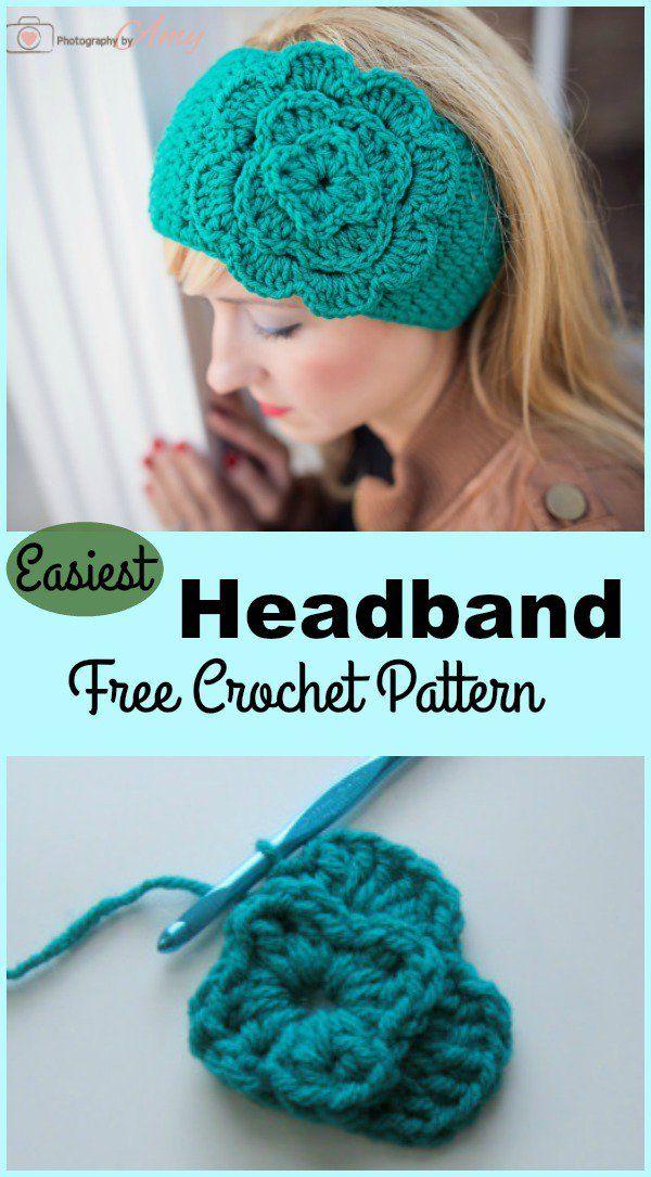 Easiest Headband Free Crochet Pattern | Pinterest | Häkeln und ...
