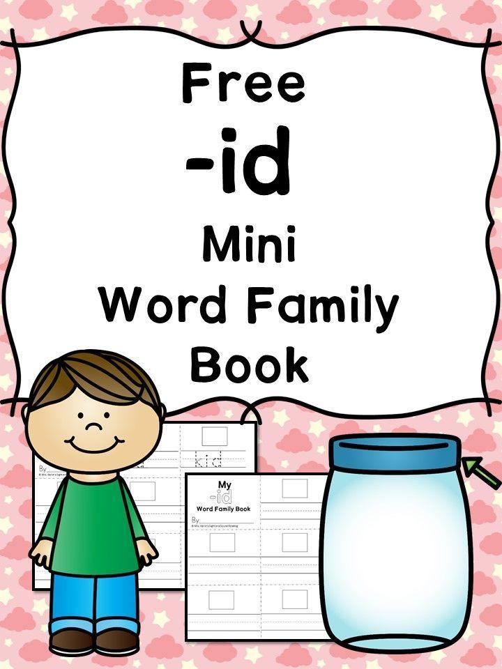 2 Free Cvc Id Word Family Worksheets Make A Minibook Tpt Free