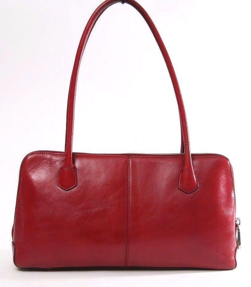 Hobo International Red Leather Satchel Lola Shoulder Bag Purse Hobointernational Satchelshoulder