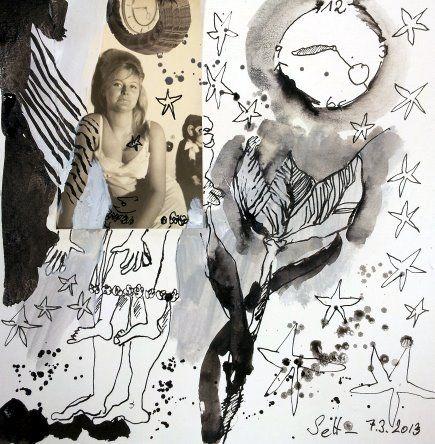 Blatt 18 Sterne am Himmel (c) Collage von Susanne Haun