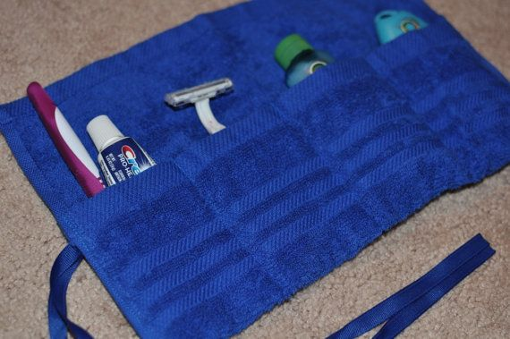 Bright Blue Travel Toothbrush and Toiletry by CraftyClayton, $7.50