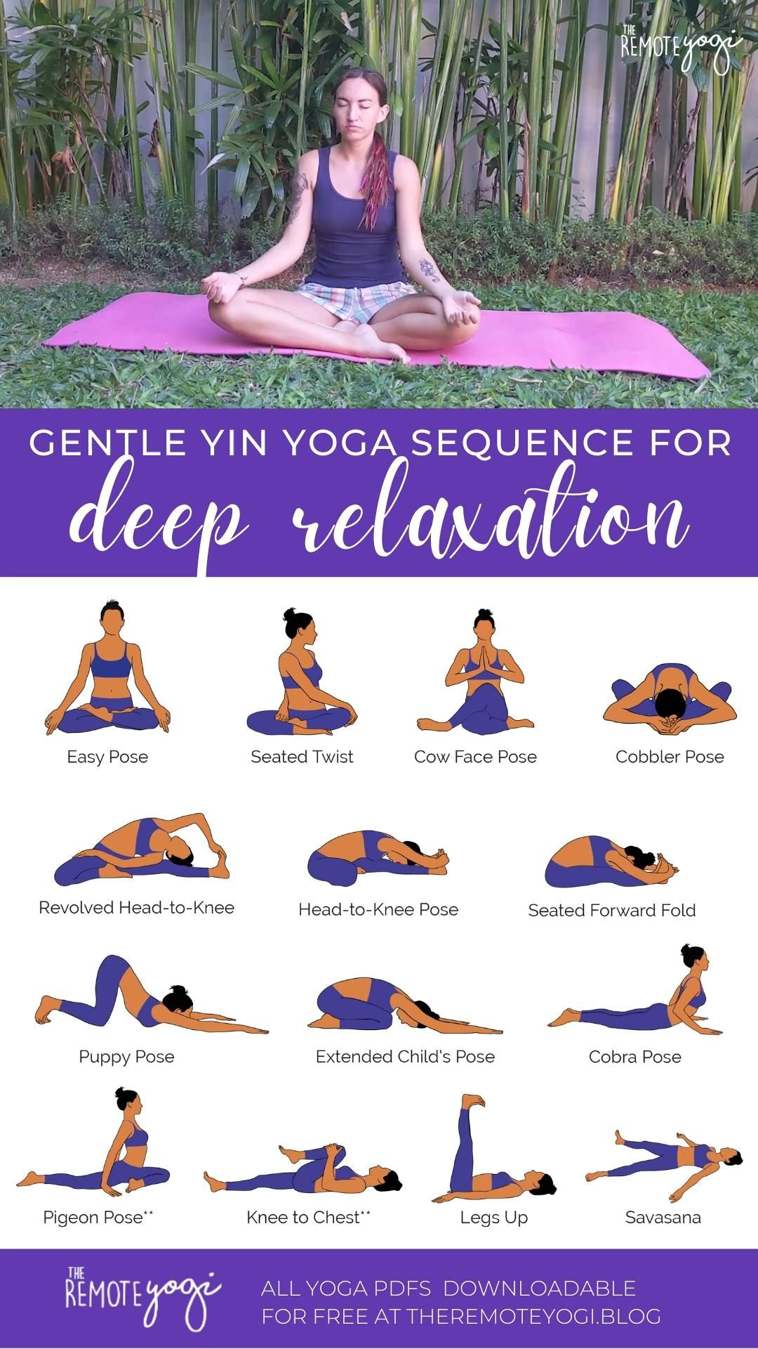 Yin Yoga Sequence for Deep Relaxation