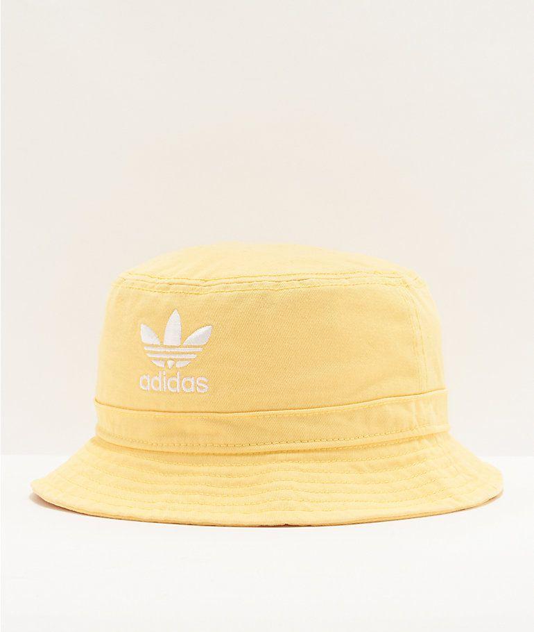 Adidas Originals Yellow Washed Bucket Hat Zumiez Adidas Originals Bucket Hat Adidas