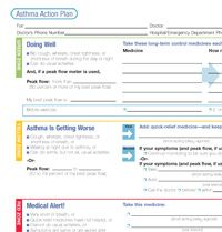 Asthma Action Plan To Be Filled Out With Your ChildS Healthcare