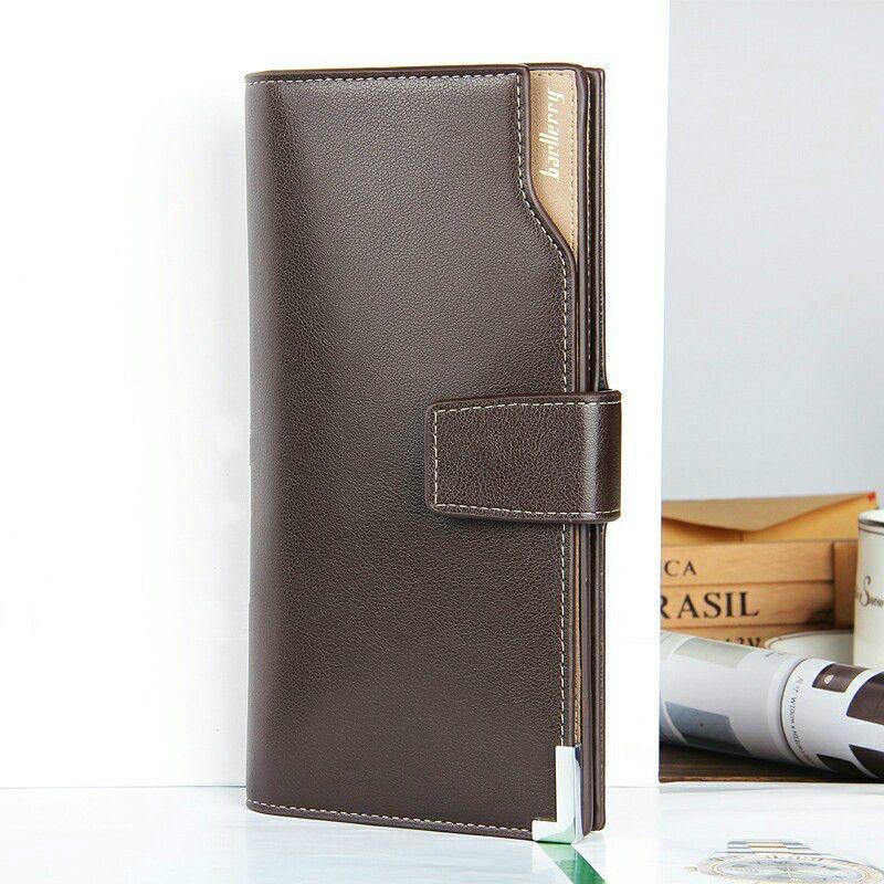 LLJUNDUI European and American Style Leisure Men Long Wallet Male Multi-functional Hasp Three Fold Purse Carteira Free Shipping