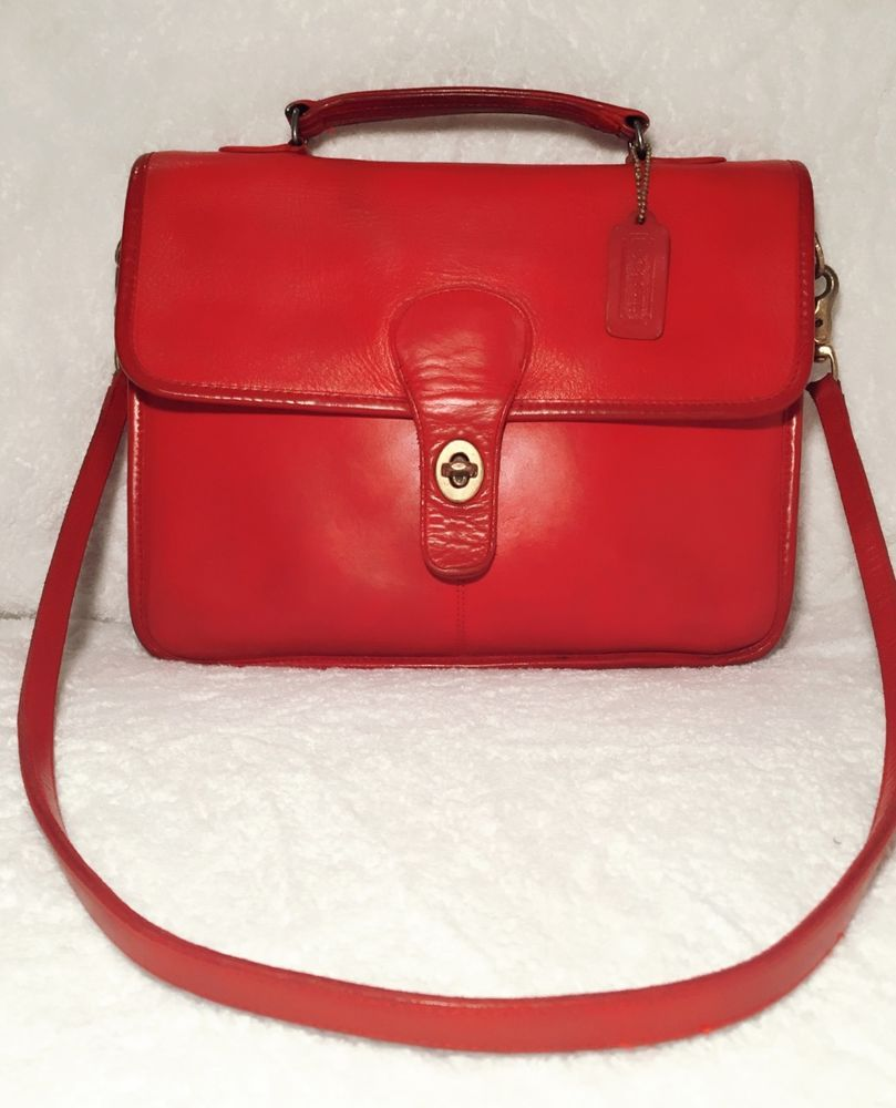 School bag new york - Vintage 1980s Coach School Bag 9695 Red Made In New York City
