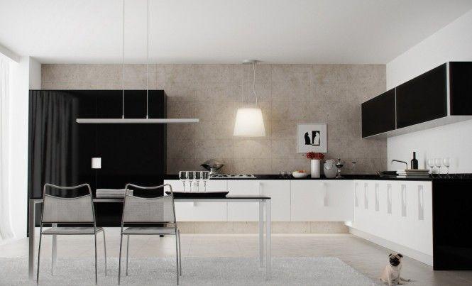 black white kitchen | interior design. kitchen. | pinterest | kitchens