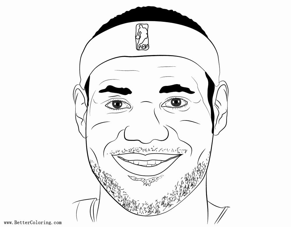 Lebron James Coloring Page Unique Smile Lebron James Coloring Pages Free Printable Coloring Pages In 2020 Lebron James Heat Coloring Pages Lebron James