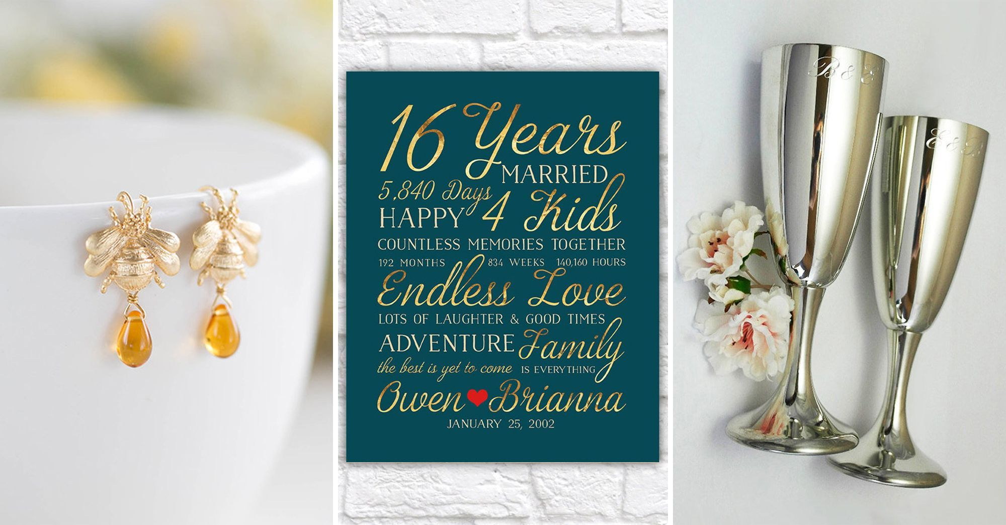 Thoughtful 16 Year Anniversary Gifts For Him Her And Them Leather Wedding Anniversary Gifts 16th Anniversary Gifts Anniversary Gifts For Him