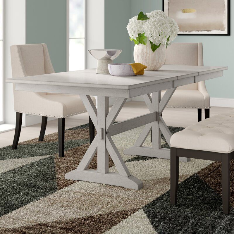 Rutledge Extendable Solid Wood Dining Table Solid Wood Dining