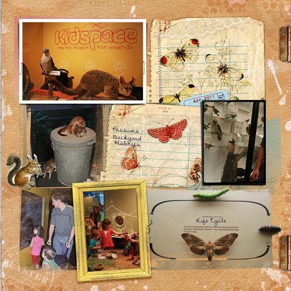 museum (left half) page made with Paula Kesselring\u0027s Autumn Goodies
