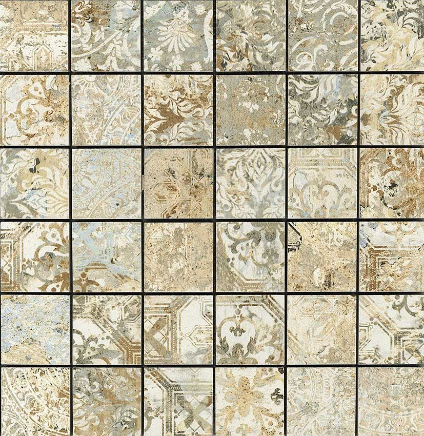 aparici #carpet sand #mosaico 5x5 29,75x29,75 cm | feinsteinzeug,