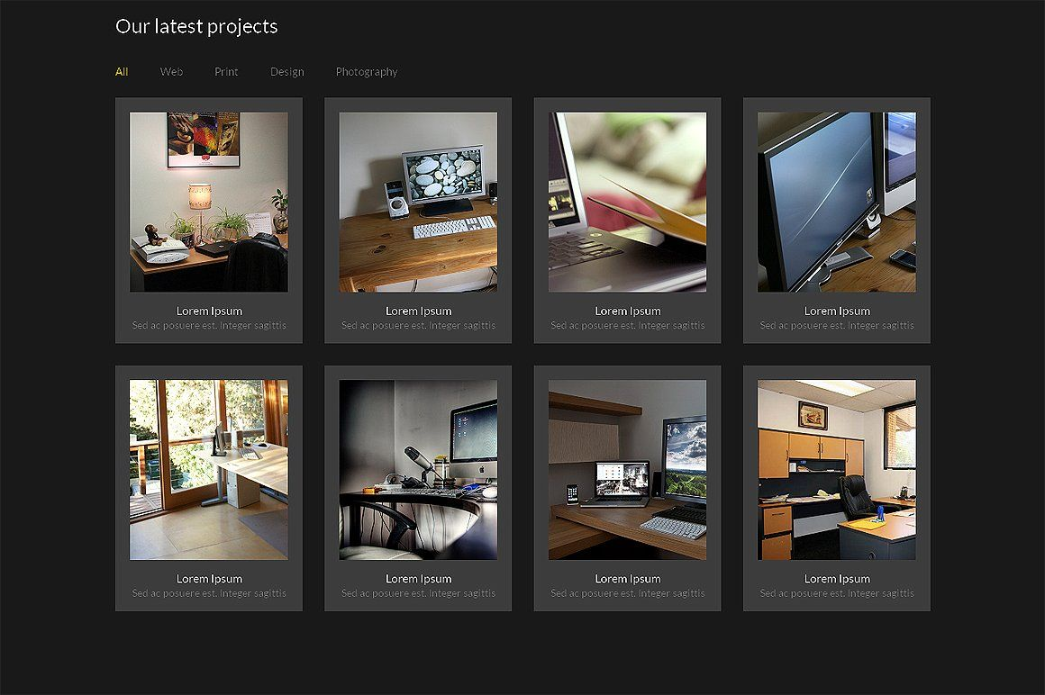 Yellow Bootstrap Responsive Template Templates