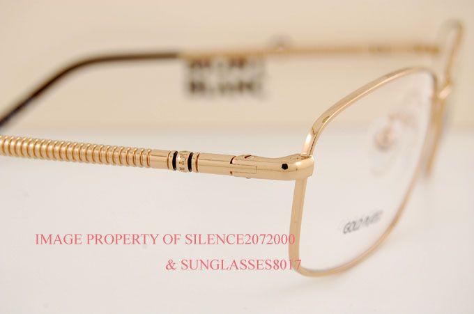 32c0ea98ff003 New Mont Blanc Eyeglasses Frame 251 032 Gold Plated Men