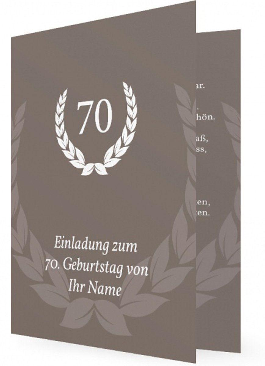 einladung geburtstag : einladung zum 70 geburtstag - Geburstag Einladungskarten - Geburstag Einladungskarten