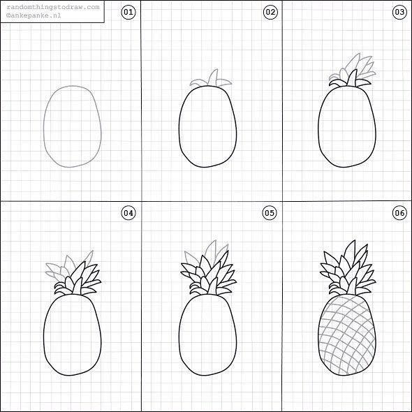 épinglé Par Rivière Sur Tuto Dessin En 2019 Ananas Dessin