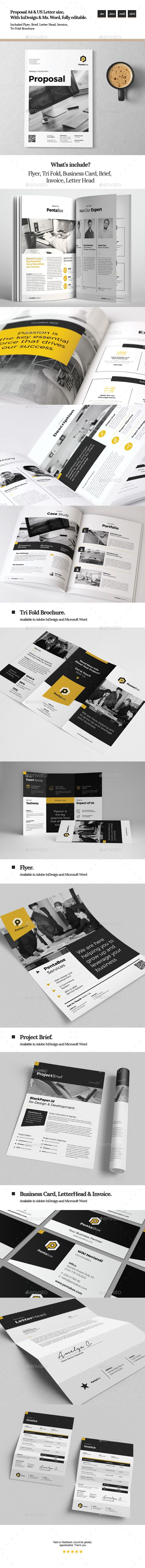 Proposal Template InDesign INDD, MS Word. Download here: https ...