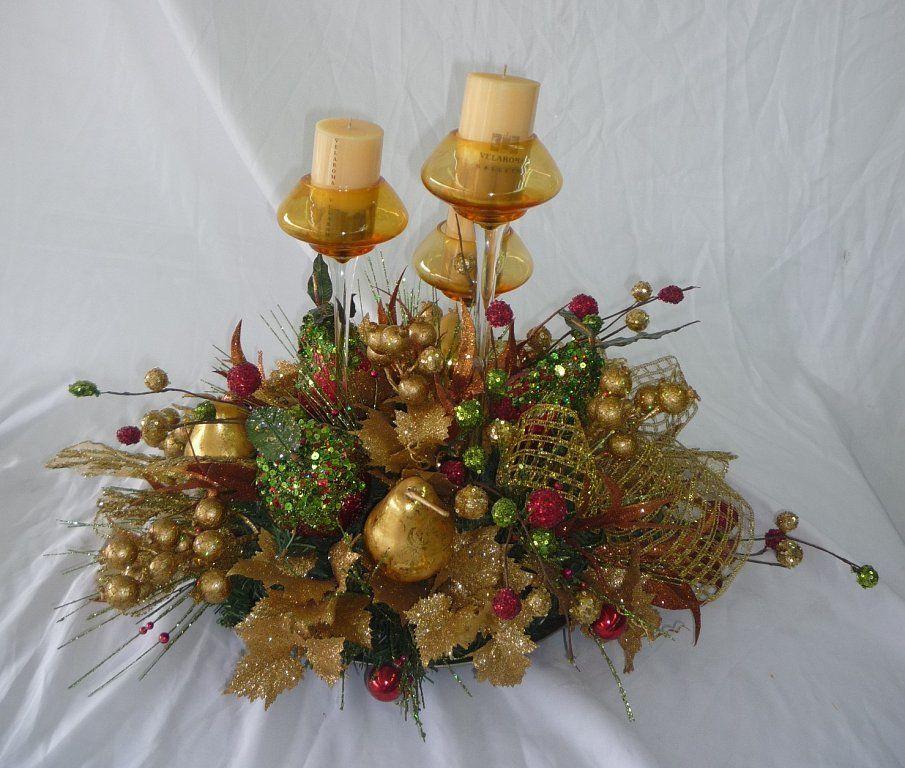 Centros de mesa para navidad christmas for Centros de mesa navidenos elegantes