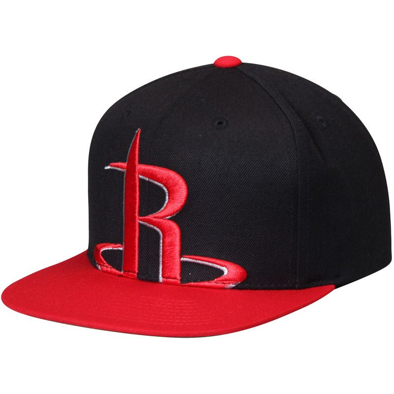 f48ec56eae4c ... good houston rockets mitchell ness cropped xl logo adjustable snapback  hat black red 943f7 adb9c