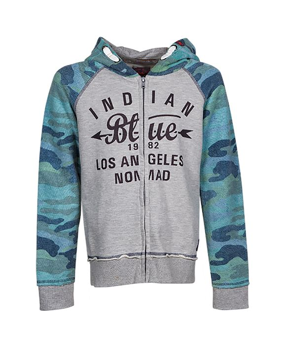 Indian Blue Jeans - Boys S/S '16 - Style code: IBB16-4534 Style name:Hooded Zipper Jacket Raglan Army