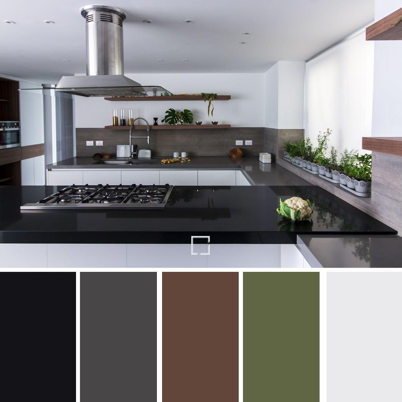Paleta de colores, para una cocina sobria, elegante y acogedora ...