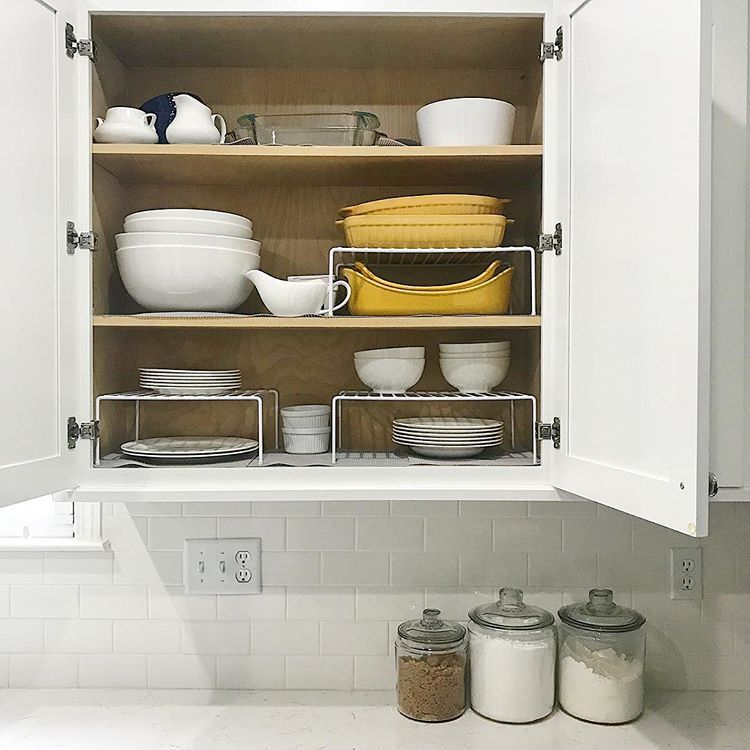 Organization It Makes The Every Day Easier Loving These Little Cabinet Organizers Cabinets Organization Kitchen Cabinet Organization Kitchen Organization Diy
