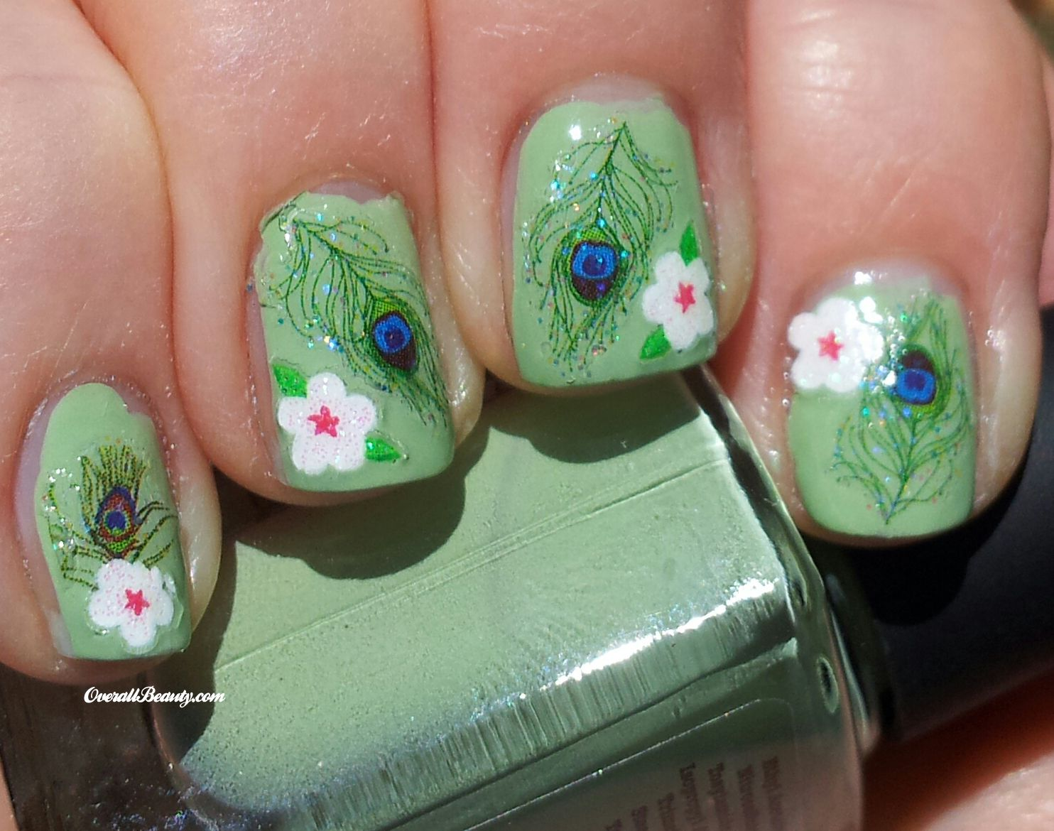 Peacock Feathers Nail Art Decals
