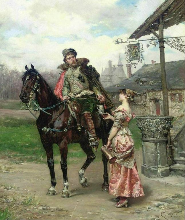 """Coisas de Terê→ """"Refreshments"""" → Ludovico Marchetti - Italian - (1835-1909)."""
