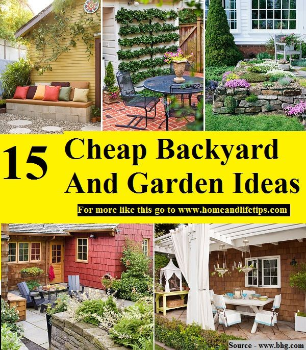 Cheap Gardening Ideas: 15 Cheap Backyard And Garden Ideas